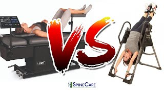 Inversion Table vs Spinal Decompression Therapy