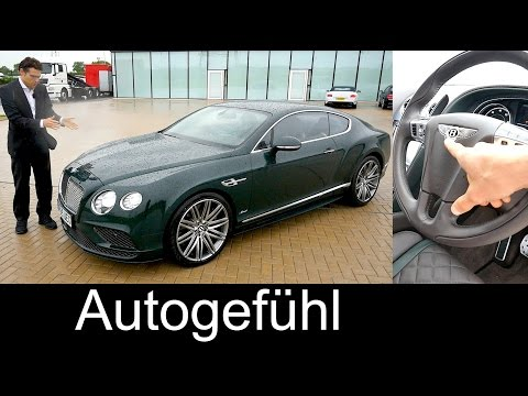 Bentley Continental GT Speed FULL REVIEW test driven W12 630 hp Sound
