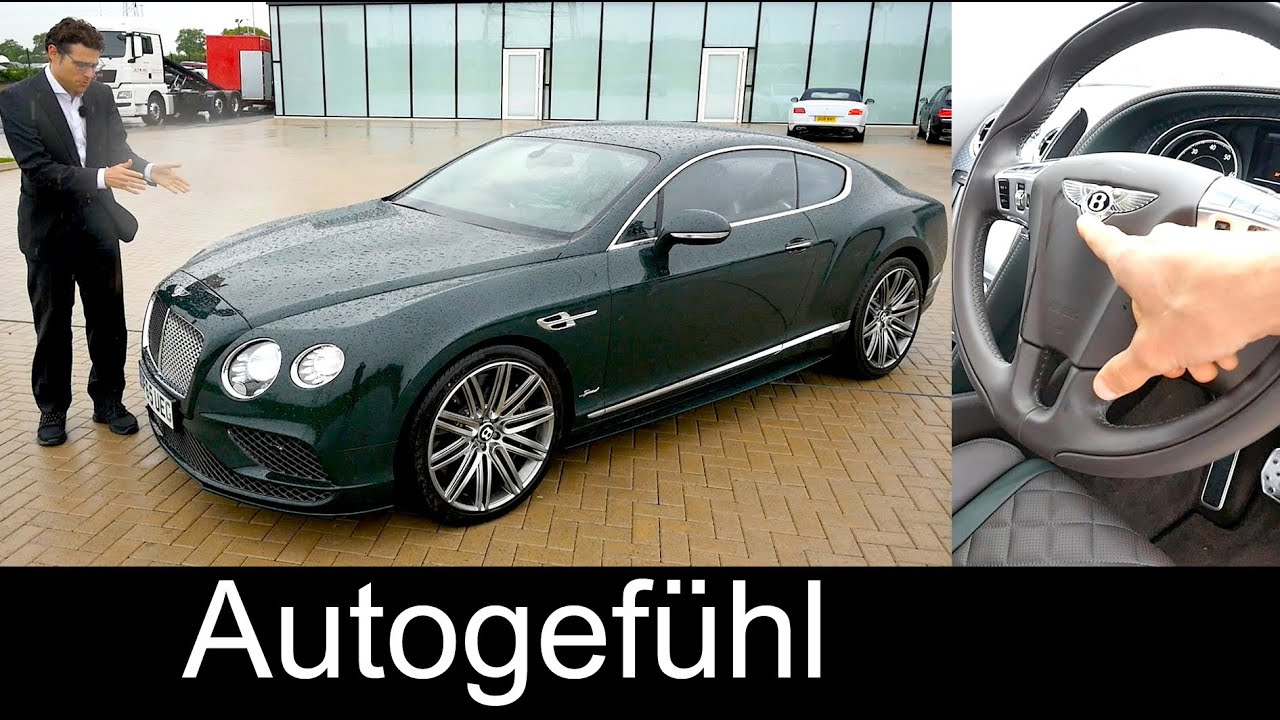 Bentley Continental GT Speed FULL REVIEW Test Driven W12 630 Hp Sound    YouTube