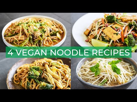 4 EASY VEGAN NOODLE RECIPES YOU HAVE TO MAKE | VEGAN PHO + PAD THAI!