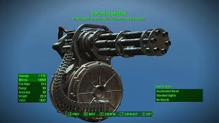 Fallout 4 - BEST HEAVY WEAPON EXPLOSIVE MINIGUN LEGENDARY (Best Legendary Heavy Weapon In Fallout 4)