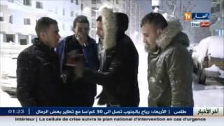 موفد تلفزيون النهار إلى سطيف يرصد آراء بعض المسافرين العالقين في الثلوج