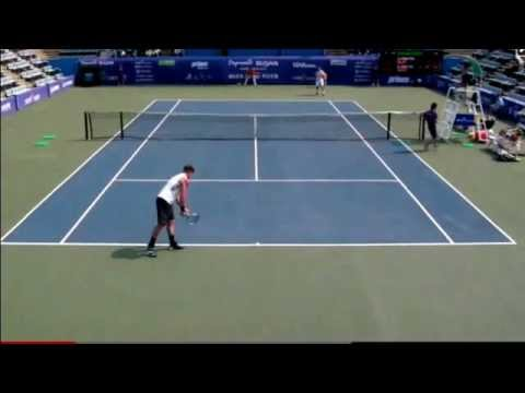 Sam Groth - Fastest Serve Ever World Record Tennis Slow Motion 263kmh