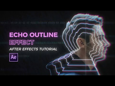 Echo Outline Effect | After Effects Tutorial
