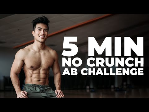 5 Minute At Home Ab Routine Challenge No Crunches, No Equipment!