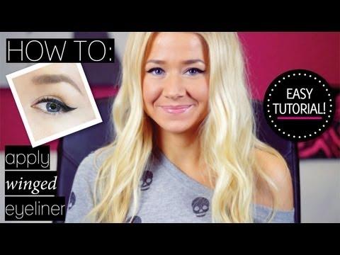 How To Apply Winged Eyeliner Using Cream Liner & Liquid Liner Pen
