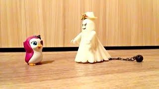 Пингвины в #видео для детей. Привидение.