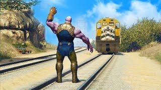 CAN THANOS STOP THE TRAIN IN GTA 5?!