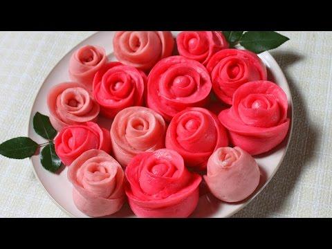 steamed buns / Valentines rose flower cake  玫瑰花馒头