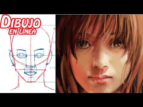 dibuja el rostro de la mujer (adolescente) explicado - YouTube