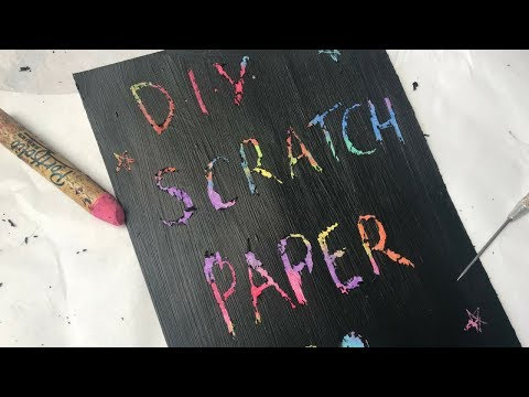 DIY Scratch Paper with Oil Pastels (Super Easy!)