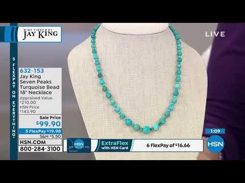 e4484514873 Jay King Seven Peaks Turquoise Bead 18