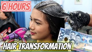 NAGPAREBOND, COLOR AT BRAZILIAN BLOWDRY AKO! HAIR TRANSFORMATION VLOG | Tyra C. ❤️
