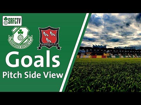Pitch Side View   Goal v Dundalk    2 July 2021