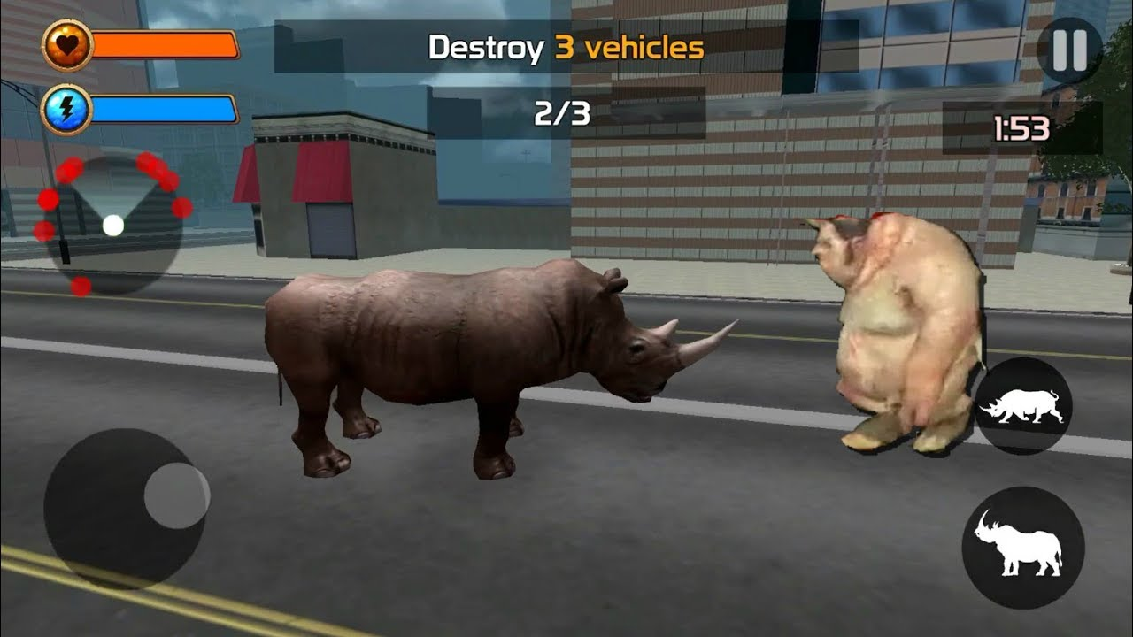 ► Wild Rhino Rampage 3d ios Gameplay – Best Animal Battle