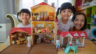 หนูยิ้มหนูแย้ม เล่นต่อบ้าน3ชั้น สร้างห้องให้น้องซิลวาเนียน