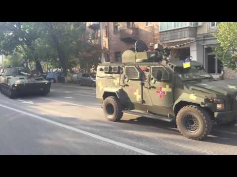 Колонна военной техники ВСУ