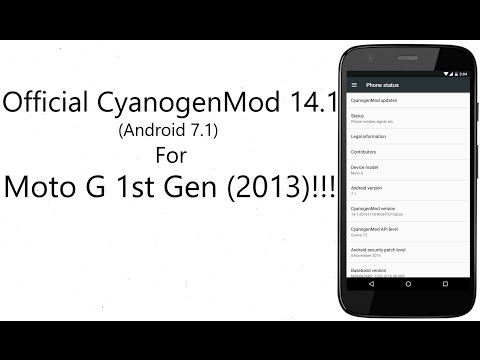 Official CM 14.1 for Moto G 1st Gen(Android 7.1)!!!