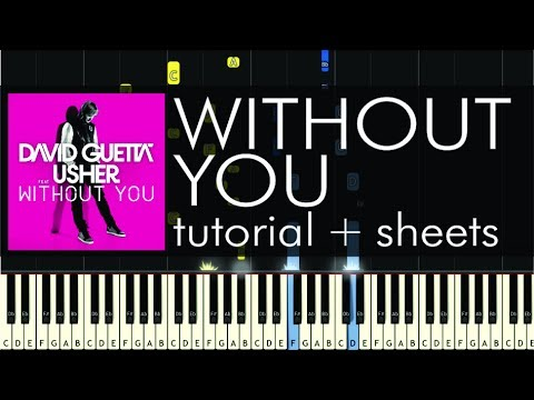David Guetta - Without You - Piano Tutorial - How to Play + Sheets