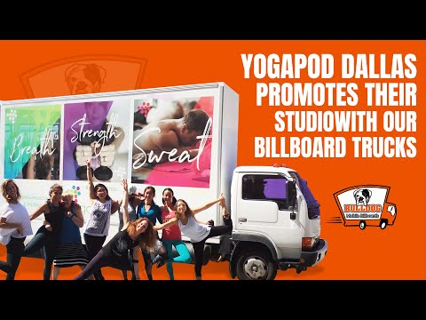 Bulldog Billboards YOGAPOD Dallas #YogaPodDallas Downtown Dallas Yoga