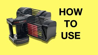 How to Use PowerBlock Adjustable Dumbbells