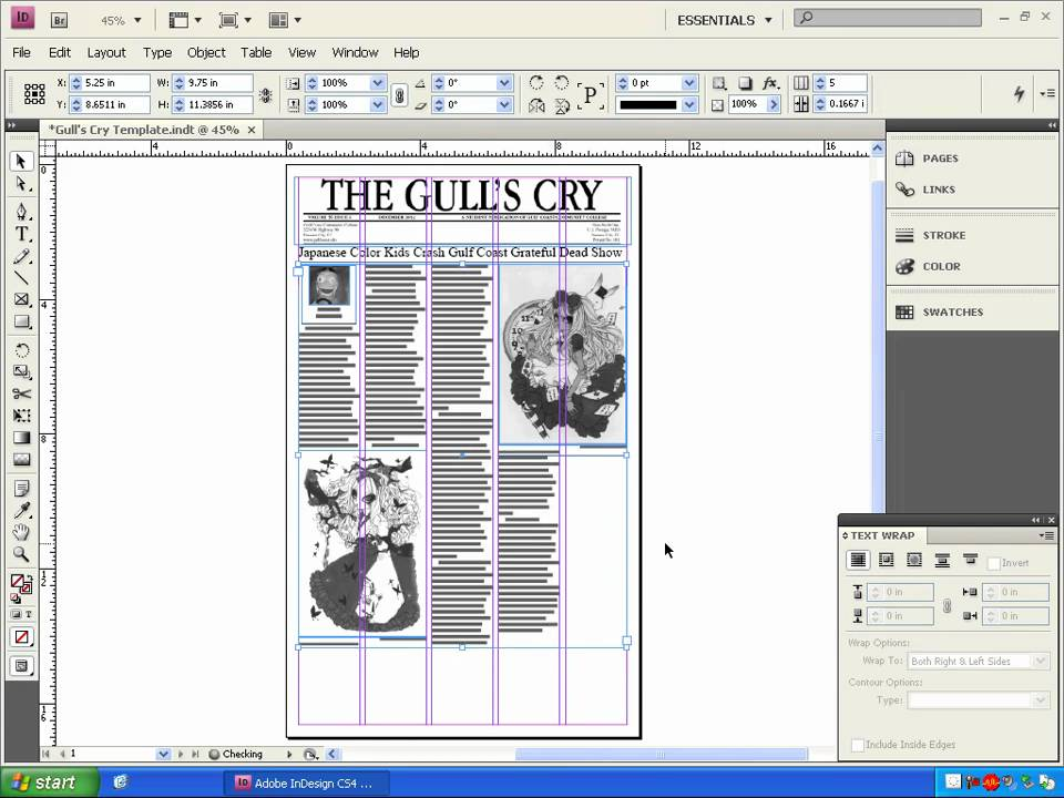 Lesson 04 designing a newspaper page with indesign part 2 for How to make something with newspaper