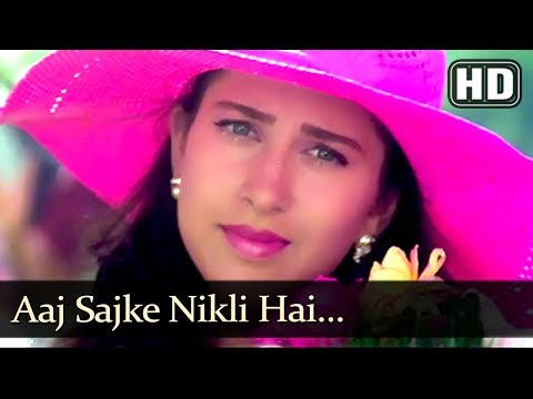 Aaj Sajke Nikli Hai (HD) - Papi Gudia Song - Avinash Wadhavan - Karisma Kapoor
