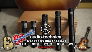 5 Audio-Technica Condenser Mic Shootout: AT4041, AT4021, AT2021, ATM450, Pro37 With Scott Sill