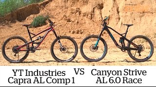 Canyon Strive vs YT Capra AL 1 bike test | MBR