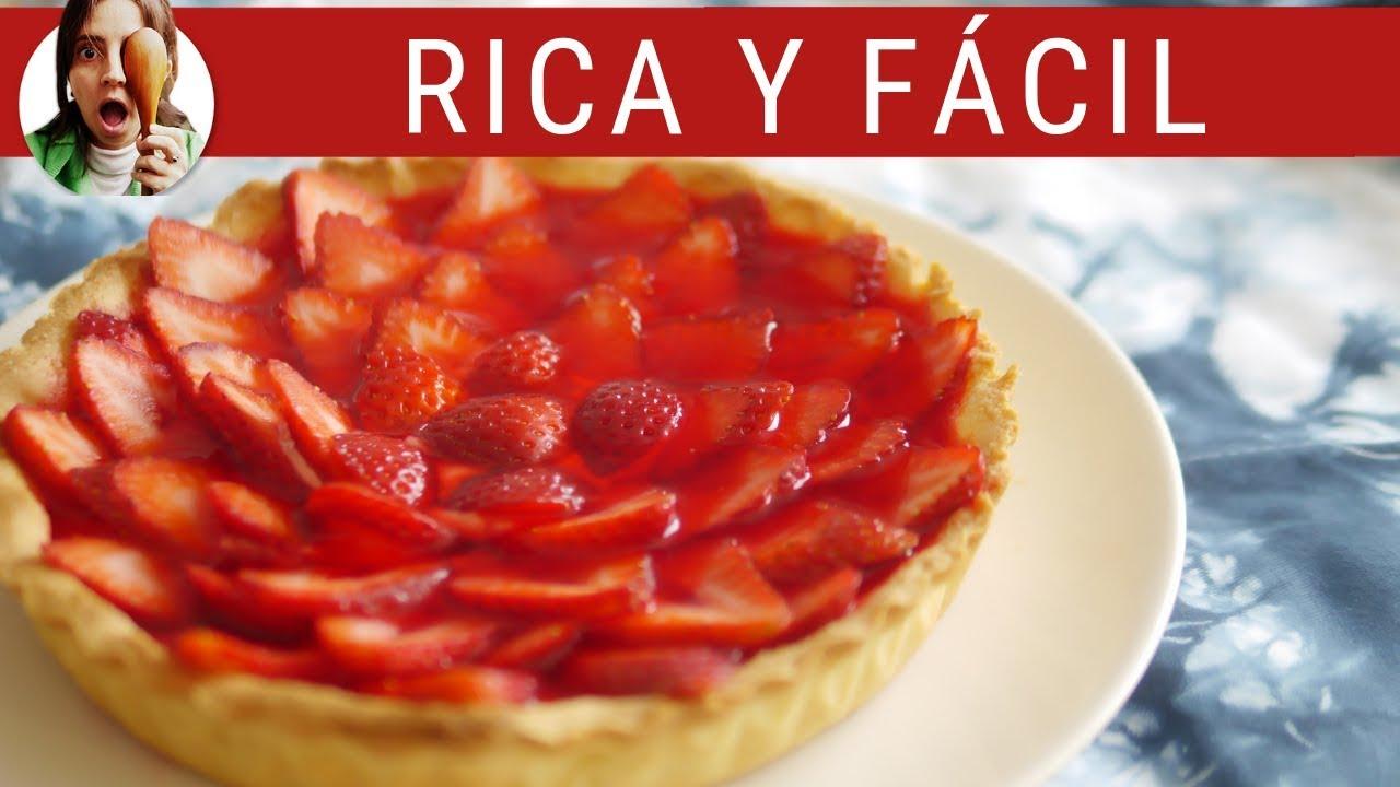 TARTA DE FRUTILLAS  🍓 (queda perfecta!!!)