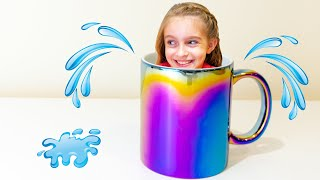 Funny adventure of Alicia with a magic cup