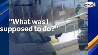 Man shoves woman to ground in road-rage incident