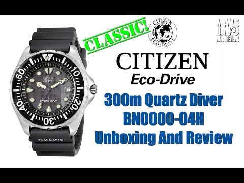 New Legend? | Citizen Eco-Drive 300m Quartz Diver BN0000-04H Unbox & Review: They're back! Pick one up on Amazon for $295.00: https://www.amazon.com/dp/B000EQS1RO/?ref=exp_inf_pl_maverickwatchreviews  Make sure you check out my Amazon Shopping Page for this and many other great watches I have reviewed on the channel: https://www.amazon.com/shop/maverickwatchreviews.  If you're feeling generous here's my Patreon page: https://www.patreon.com/maverickwatchreviews.  My Gear... Camera: Samsung Galaxy S8 Editing Software: Power Director 16 Picture Editor: Adobe Photoshop Music: Epidemic Sound  Thanks for watching!