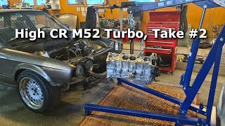 BMW e30 m52 turbo winter maintenance. S05E01 Assembling the forged engine take #2