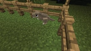 Repeat youtube video Minecraft Dinosaurs - Part 7 - First Dinosaur Hatchling! T-rex!