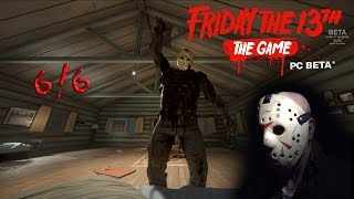 Friday the 13th the game (Beta) gameplay 2.0 - Jason part 7 - 6/6