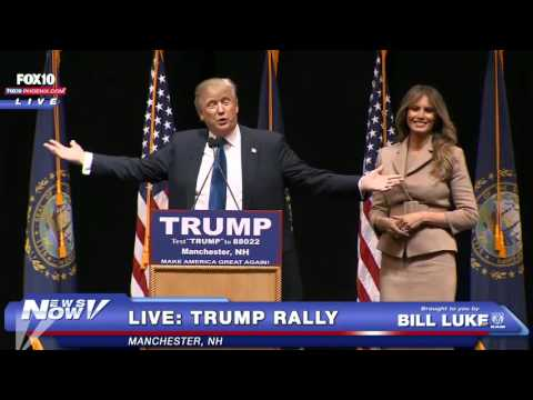 FULL: Donald Trump LIVE Rally MANCHESTER, NH 2/8/16