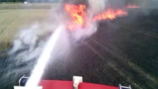 Brudzew: Pożar zboża w Brudzyniu