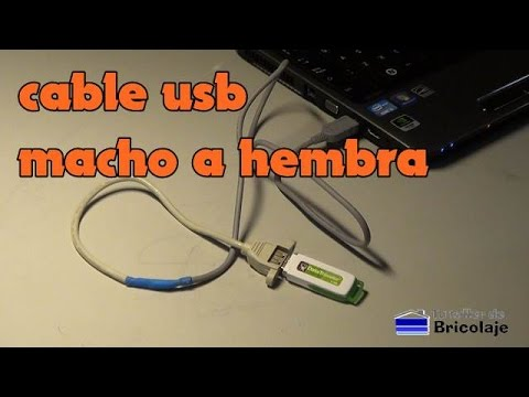 C 243 Mo Hacer Un Cable Usb Macho A Hembra Youtube