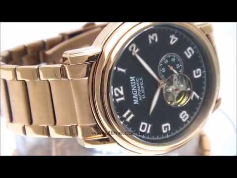 507e933aa92 Relógio Magnum Esqueleto Automático MA33915P - YouTube