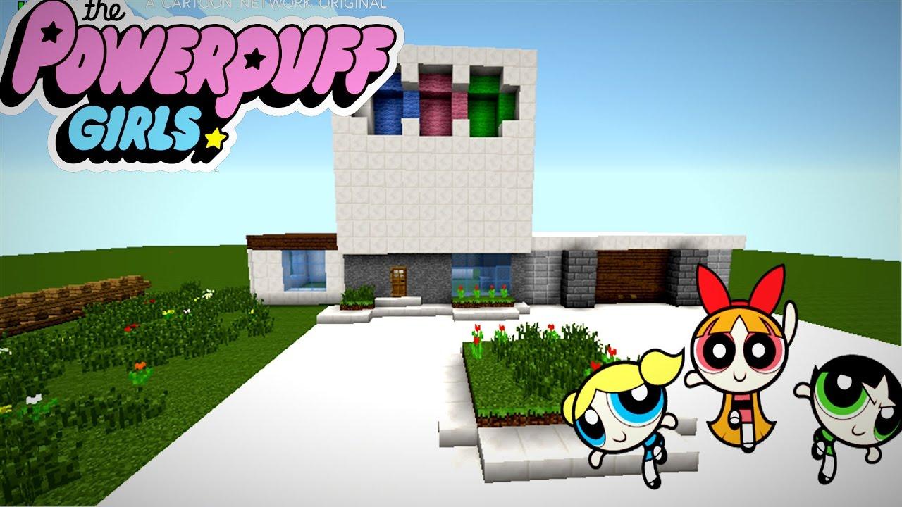 Minecraft como hacer la casa de las chicas super poderosa for Casa de chicas