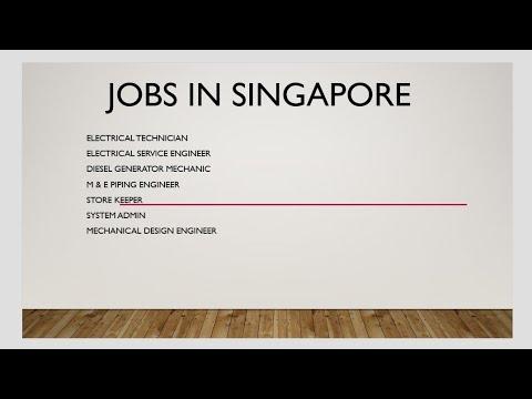 Jobs in Singapore,  urgent vacancies - 30 December 2017 BE ELECTRICAL, mechanical vacancies.