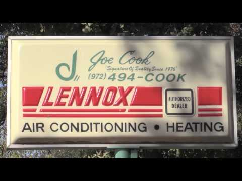 Joe Cook Heating & Air Conditioning Video - Garland, TX Unit