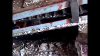 Регулировка гусениц на буране