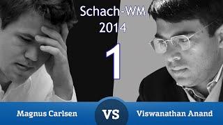 Anand - Carlsen Schach-Weltmeisterschaft 2014 (1) | Partieanalyse