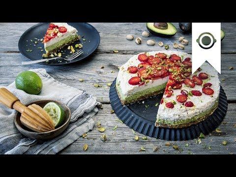 Raw Cake Rezept Mit Kokos Limette Avocado Veganer Rohkostkuchen