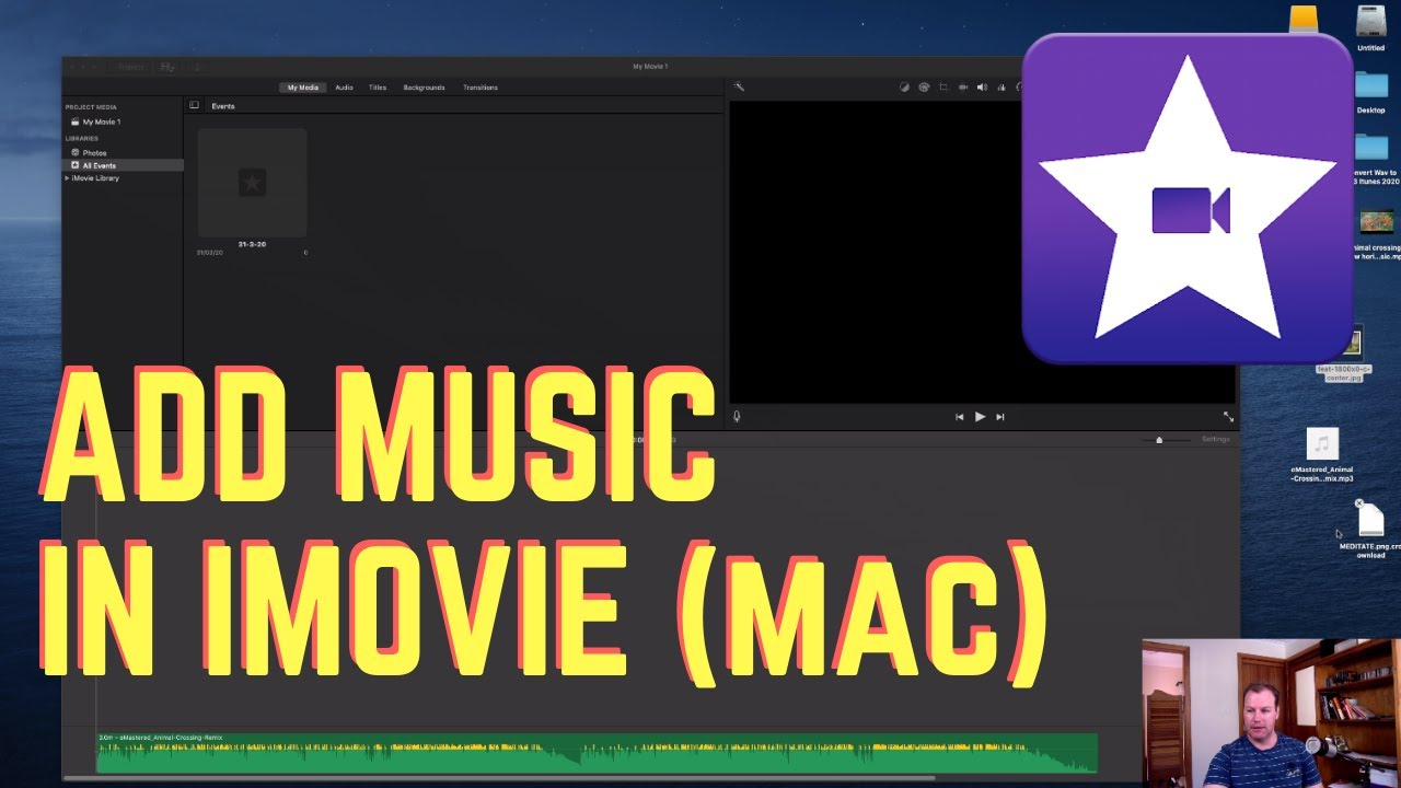 How To Put Music On Imovie Mac Tutorial Using Free Youtube Music Library Youtube