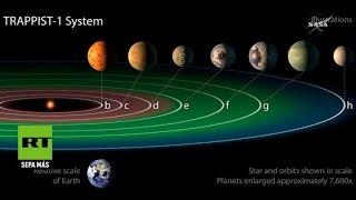 La NASA descubre un nuevo sistema solar con siete planetas que podrían albergar vida