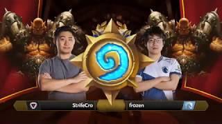 StrifeCro vs Fr0zen - Hearthstone Grandmasters Americas - Week 3