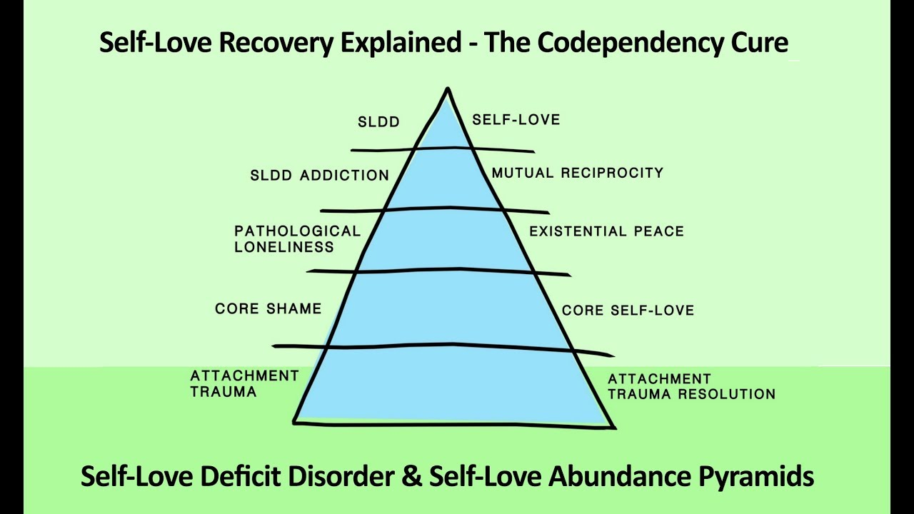 Animation: The Codependency Cure Solves Self-Love Deficit Disorder  The SLD  & SLA Pyramids  Expert